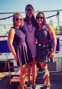 "Dare2tri ladies at the ""Red, White & Cruise"" fundraiser for Worlds"