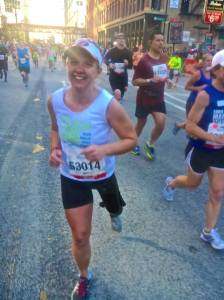 My favorite picture of the day. Courtesy of my new friend, Marathon Man!
