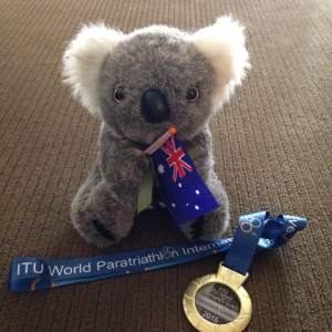 The medal is cool, but the koala was the real prize