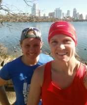 A run with Shawna on Lady Bird Lake